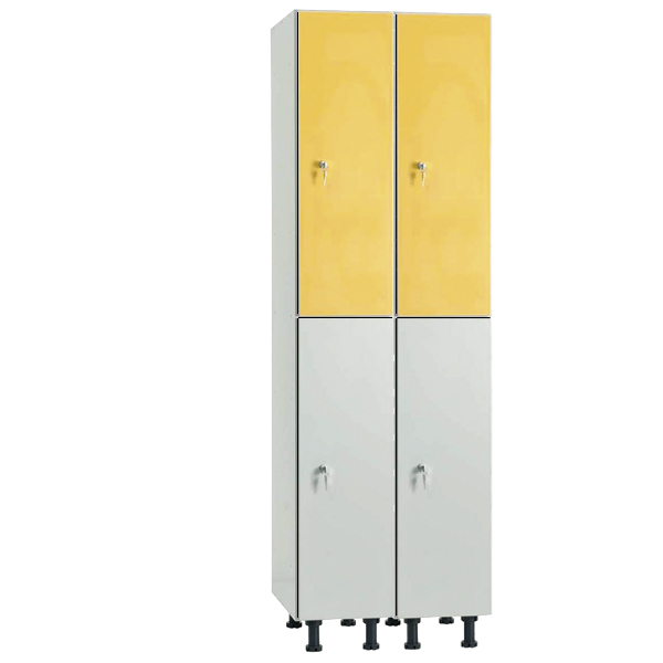Lockers with Body in Hidrophobic Melamine and HPL Doors