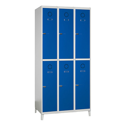 Left Luggage Lockers MONOBLOK Series with Methacrylate-Doors