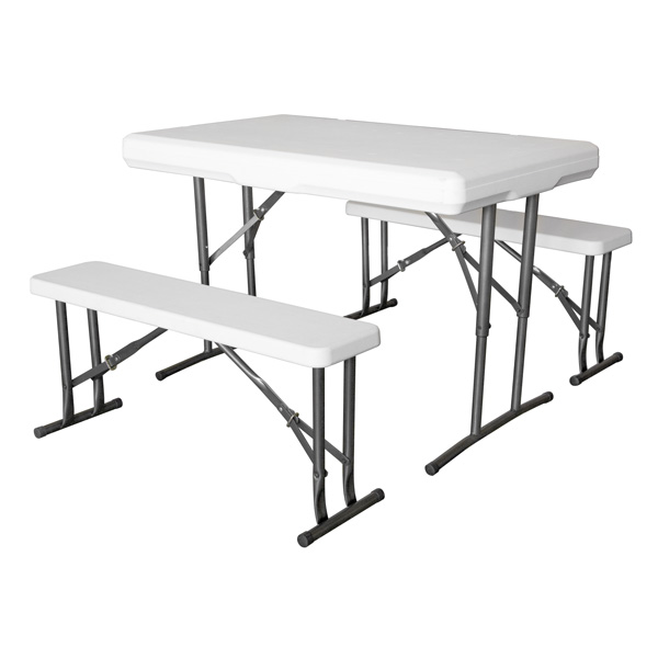 Foldable benches and tables